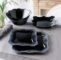 Сервиз за хранене Luminarc Authentic Silver Black, 19 части