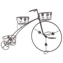 "Метален цветарник колело"" Цветенца"", 3 саксии, Inart"