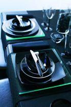 Сервиз за хранене Luminarc Quadrato черен