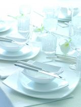 Сервиз за хранене Luminarc Quadrato бял 6532 - Pochehli