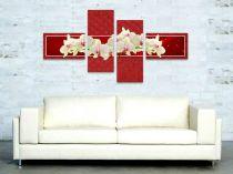 """Картина пано """"Орхидеи в червено"""" 7252 - Pochehli"""