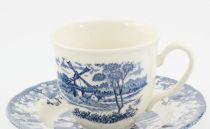 Сервиз за кафе и чай Вятърна мелница, Claytan, син