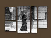 Картина пано дама в снега 7098 - Pochehli