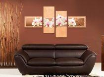 Пано за стена Орхидеи в цвят праскова 7293 - Pochehli