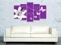 Пано за стена Лилия в лилаво 7110 - Pochehli