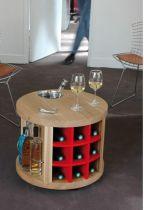 Бар-масичка за сервиране и съхранение на вино