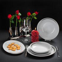 Комплект за хранене Щрихи, порцелан