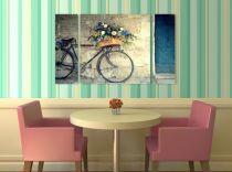 Картина пано Колело с цветя 8018 - Pochehli