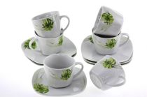Сервиз за кафе Нарцис, порцелан, 12 части 5356 - Pochehli