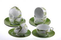 Сервиз за чай и кафе Бамбук, порцелан, 12 части