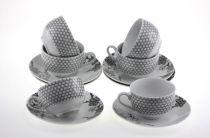 Сервиз за чай и кафе Клонки, порцелан, 12 части