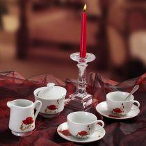Сервиз за чай и кафе Макове, Lancaster, 14 части
