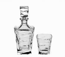 Кристален комплект за уиски Зиг Заг, кристал Бохеимя 5349 - Pochehli