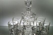 Комплект за уиски от кристал, Зиг Заг, Бохемия 6855 - Pochehli