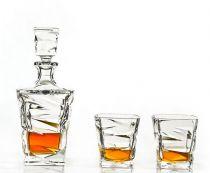 Бохемия, кристален комплект за уиски Зиг Заг, Бохемия 6031 - Pochehli