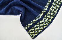 Хавлиена кърпа Алия, тъмно синьо, Панагюрище 1962 7783 - Pochehli