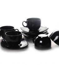 Сервиз за чай Квадрато черен