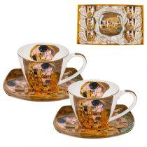 Сервиз за чай и кафе Целувката, 12 части, Lancaster