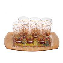 Чаши за вода + поднос Целувката, Мода Мостра
