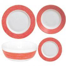 Сервиз за хранене Luminarc Color Days Rouge, 19 части