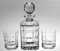 Кристален комплект за уиски Time Square, 7 части, Crystal Bohemia