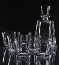 Кристален комплект за уиски Kathrene, 7 части, Crystal Bohemia