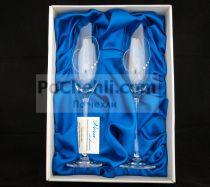 Чаши за шампанско Hearts in Love, елементи Swarovski, Vera Exclusive, Словакия