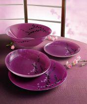Сервиз за хранене Luminarc Kashima Fuchsia, 19 части