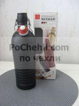 Бутилка с метален механизъм Officina 1825 Antracite, Bormioli Rocco 6764 - Pochehli