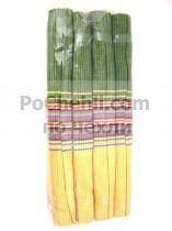 Подложки за хранене + платнени салфетки, зелено и жълто