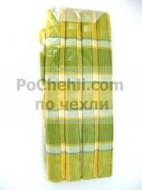 Подложки за хранене + платнени салфетки, каре в жълто и зелено
