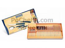 Прибори за хранене с бежови дръжки, 24 части, New Kolor Tramontina  6297 - Pochehli