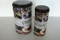 Комплект метална кутия Кафе 2 броя 6492 - Pochehli