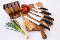 Комплект ножове Zyliss Control, 5 броя + дървен блок, Zyliss