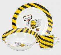 Детски сервиз за хранене Пчеличка, 3 части, порцелан