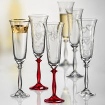 Ритуални чаши Сърца, 190 мл, Crystalex Bohemia 9431 - Pochehli