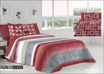 Шалте за спалня ENORA rojo, двустранно, Antilo Textil Испания