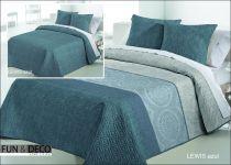 Шалте за спалня Lewis azul, двустранно, Antilo Textil Испания