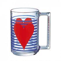 Чаша за топли напитки Luminarc Mon Coeur, червено сърце