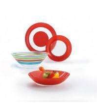 Сервиз за хранене Luminarc Simply Colors Red, 19 части