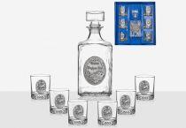 """Комплект за уиски """"Честит рожден ден"""" кораб, Artina Австрия"""