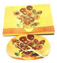 Сервиз за торта Слънчогледи, 2 части
