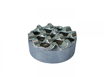 Пепелник хром кръгъл, ветроустойчив 19850 - Pochehli