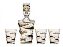 BOHEMIA ZIG ZAG Gold сервиз за уиски