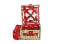 Кошница за пикник за двама в червено