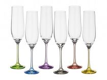 Чаши за шампанско Бохемия цветно столче