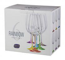 Чаши Бохемия Rainbow с цветно столче 550 мл 6375 - Pochehli