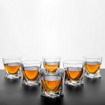 Чаши за уиски Куадро, 6 бр., 340 мл, Crystalite Bohemia 6698 - Pochehli