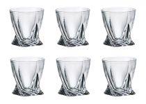 Чаши за уиски Куадро, 6 бр., 340 мл, Crystalite Bohemia 7246 - Pochehli